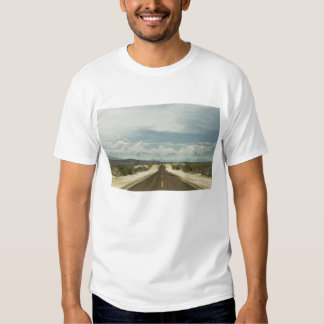 Long Straight Road Through Mexican Baja Landscape Tee Shirt