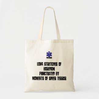 Long Stretches Of Boredom Moment Of Sheer Terror Budget Tote Bag