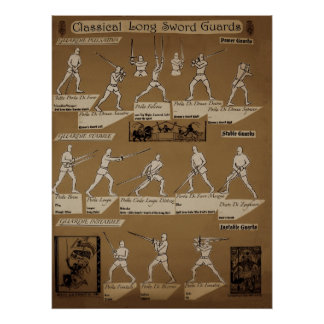 Long Sword Guard Poster Sepia