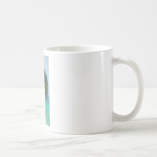 long tail boat in thailand coffee mug