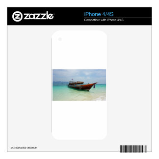 long tail boat in thailand decal for iPhone 4