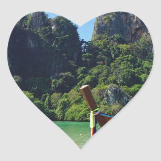 long tail boat in thailand heart sticker