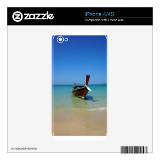long tail boat in thailand iPhone 4 skins