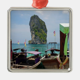 long tail boat in thailand metal ornament