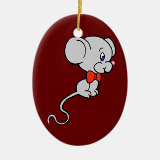 Long Tail Mouse Christmas Ornament