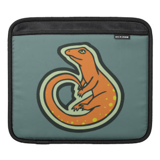 Long Tail Orange Lizard With Spots Drawing Design iPad Sleeve