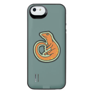 Long Tail Orange Lizard With Spots Drawing Design iPhone SE/5/5s Battery Case