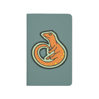 Long Tail Orange Lizard With Spots Drawing Design Journal