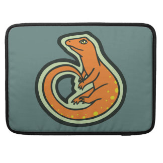 Long Tail Orange Lizard With Spots Drawing Design MacBook Pro Sleeves