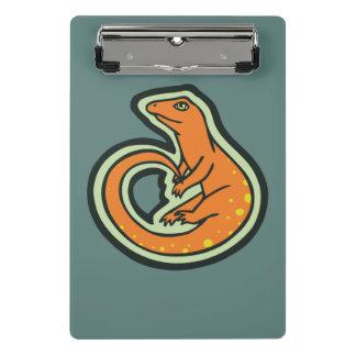 Long Tail Orange Lizard With Spots Drawing Design Mini Clipboard