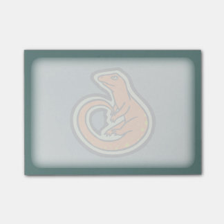 Long Tail Orange Lizard With Spots Drawing Design Post-it Notes