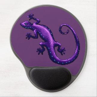 Long Tail Purple Lizard Blue Spots Pixel Gel Mouse Pad