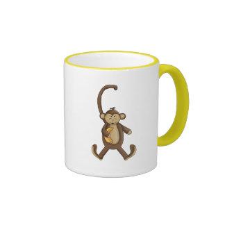 Long Tailed Monkey Ringer Coffee Mug