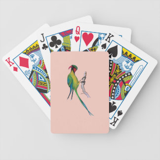 long- tailed parakeet, tony fernandes bicycle playing cards