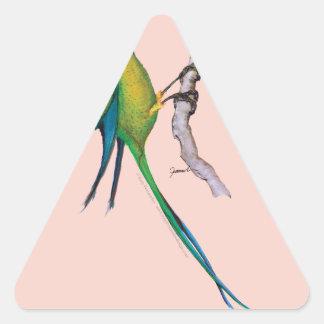 long- tailed parakeet, tony fernandes triangle sticker