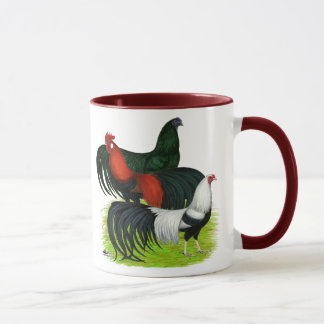 Long-tailed Rooster Trio Mug