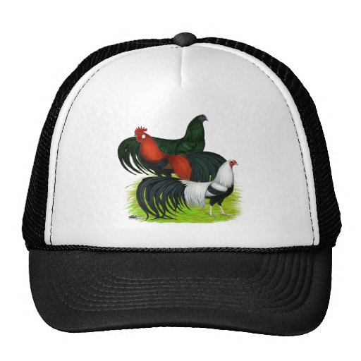 Long-tailed Rooster Trio Trucker Hat
