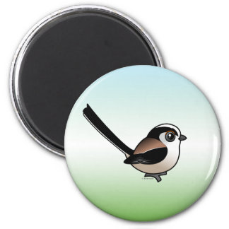 Long-tailed Tit 2 Inch Round Magnet