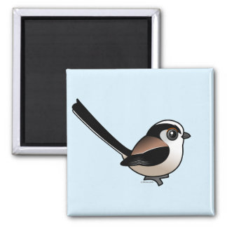 Long-tailed Tit 2 Inch Square Magnet