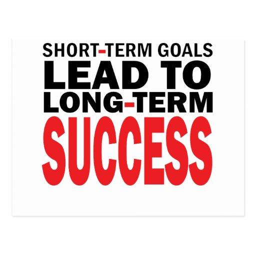 LONG TERM SUCCESS POSTCARD