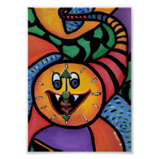 Long Time Colorful Artwork Poster
