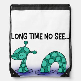 Long Time No See! Drawstring Backpack