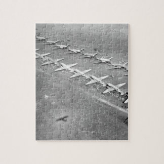 Long, twin lines of C-47 transport_War image Jigsaw Puzzle