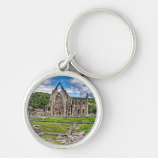 Long View of Ancient Tintern Abbey Wales, UK Keychain