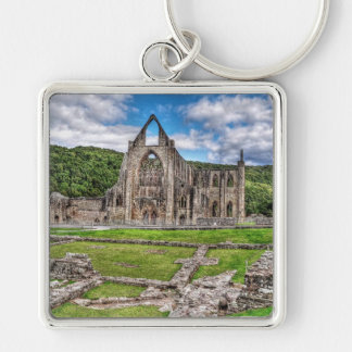 Long View of Ancient Tintern Abbey Wales, UK Key Chain