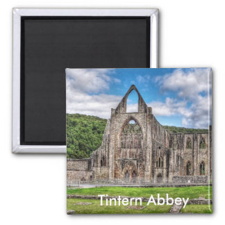 Long View of Ancient Tintern Abbey, Wales, UK Magnet