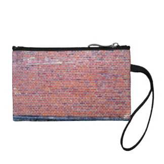 Long view of brick wall coin wallet