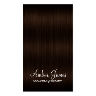 Long Wavy Brown 1 Hair Colorist Business Card