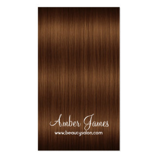 Long Wavy Brown 4 Hair Colorist Business Card