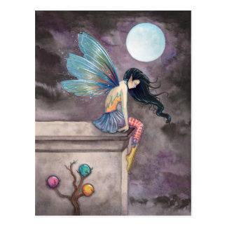 Long Way Down Fairy Postcard