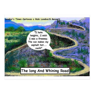 Long & Whining Road Funny Gifts & Collectibles Postcard