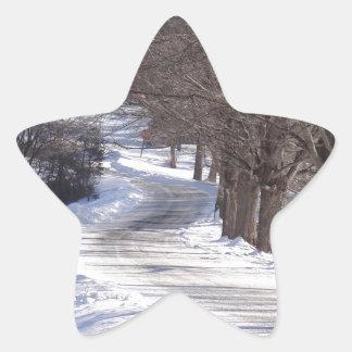 Long winters road star sticker