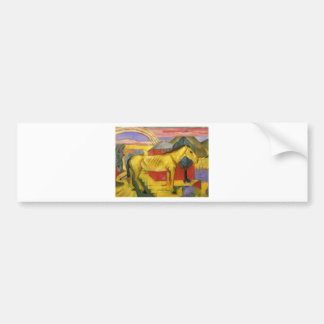 Long Yellow Horse by Franz Marc Bumper Sticker