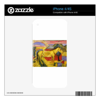Long Yellow Horse by Franz Marc iPhone 4 Decals