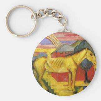 Long Yellow Horse by Franz Marc Keychain