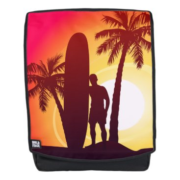 Longboard and palms backpack