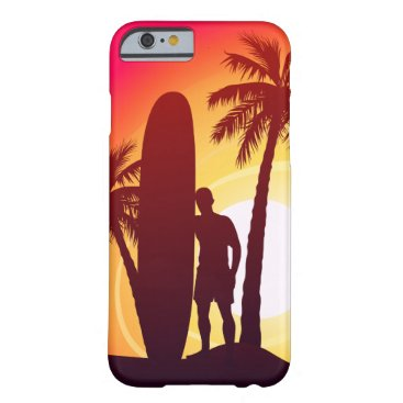 Longboard and palms barely there iPhone 6 case