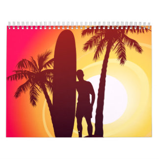 Longboard and palms calendar