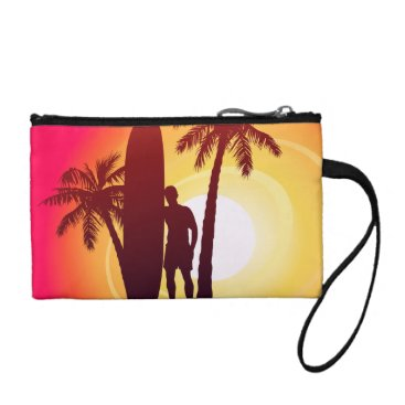 Longboard and palms change purse