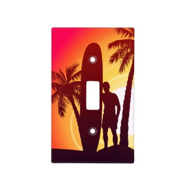 Longboard and palms light switch cover