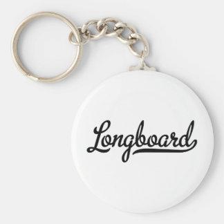 longboard basic round button keychain