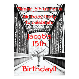 Longboard Birthday Party Invitation