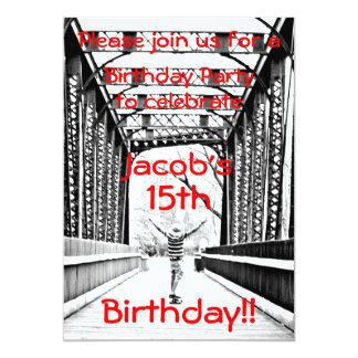 Longboard Birthday Party Invitation