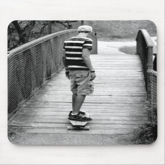 Longboard Bridge Riding Mousepad