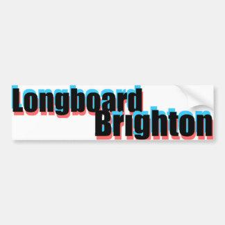 Longboard Brighton 3D Sticker Bumper Stickers