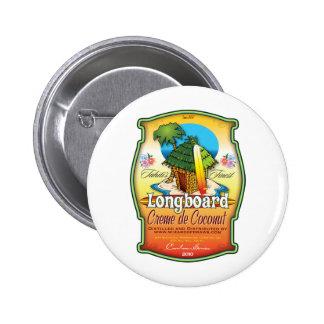 Longboard Creme de Coconut Pinback Button